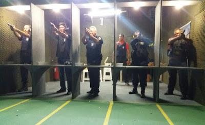 Guardas Municipais de Natal (RN) passam por treinamento prático com pistola 380