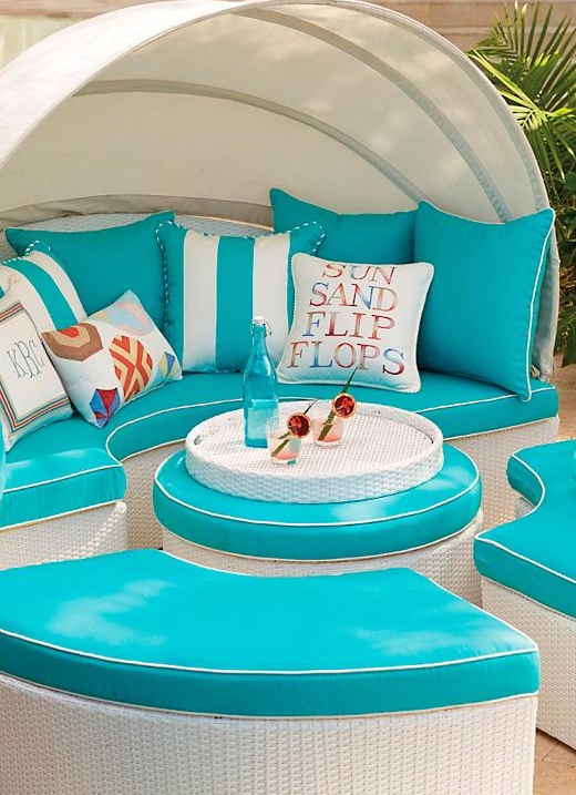 White Outdoor All Weather Wicker Lounging Furniture Coastal Living
