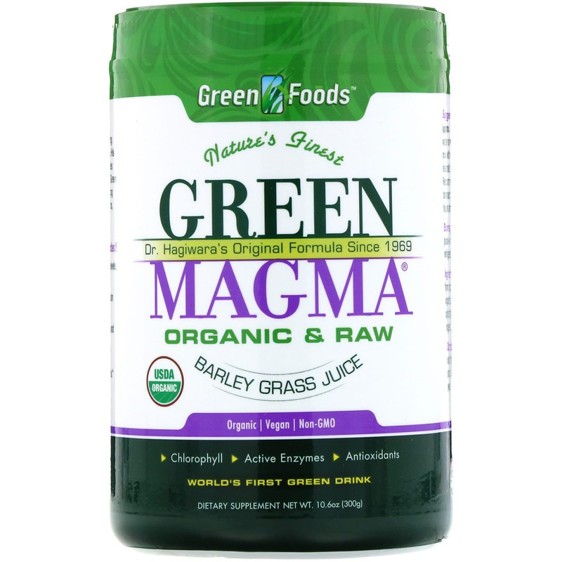 Green Foods, Green Magma, Сок ячменя, 10,6 унций (300 г)