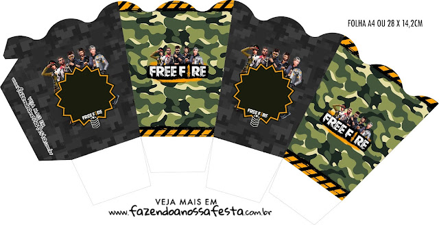 Free Fire: Cajas para Imprimir Gratis.