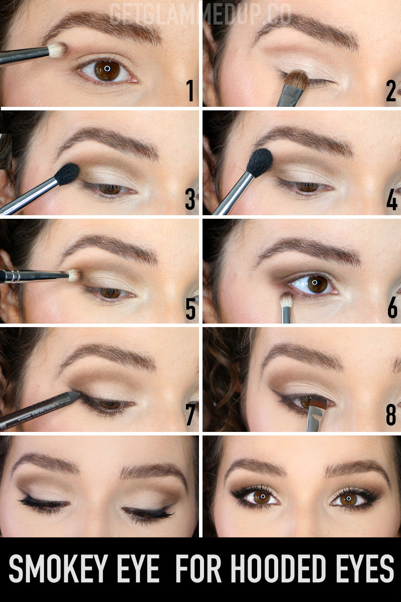 Wearable Smokey Eye Makeup for Hooded Eyes