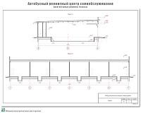 Проект мастерской самообслуживания по ремонту автобусов в г. Иваново. Архитектурные решения - Разрезы