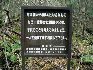 Suicida Aokigahara