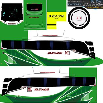 livery bussid maju lancar hd