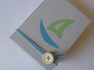 μπομπονιέρα κουτάκι από ανακυκλωμένο γκρι χαρτόνι