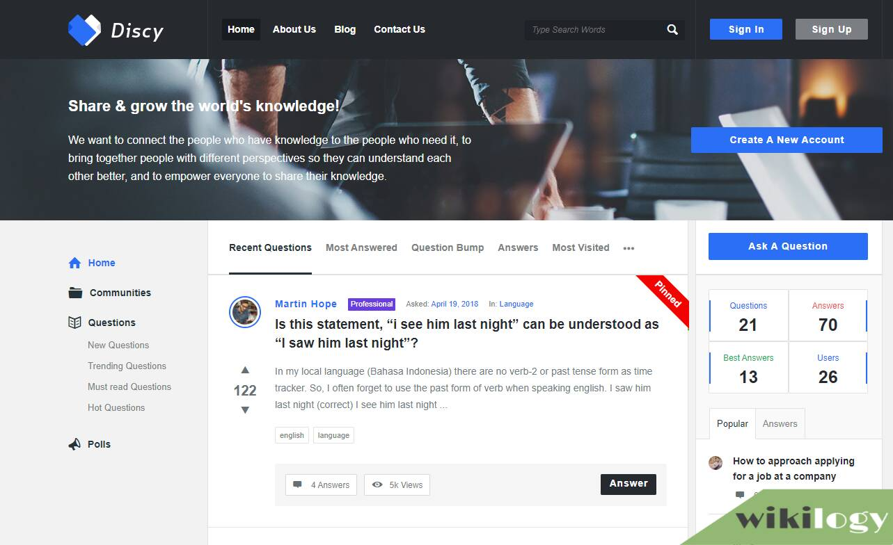 Discy - Social Question And Answer WordPress Theme