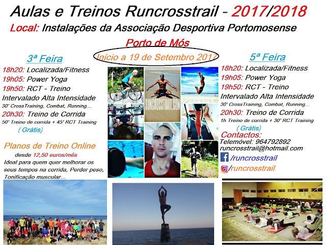 Aulas e Treinos Runcrosstrail - Treinos Online - época 2017/2018