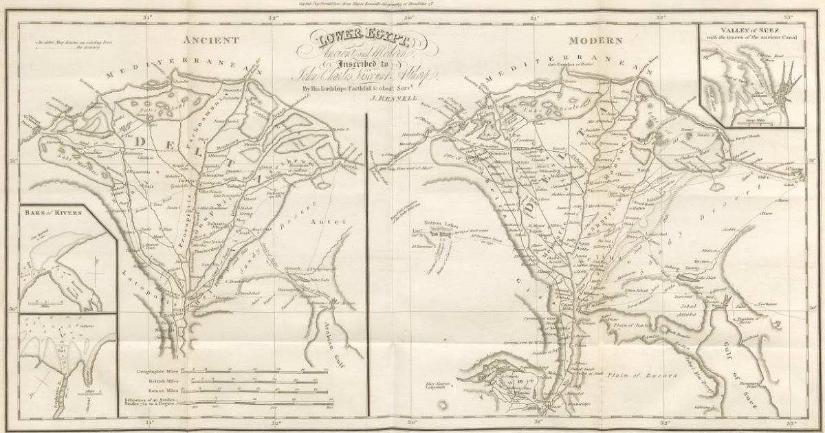 Famous Pharaohs Map Of Lower Egypt In Ancient And Modern Egypt