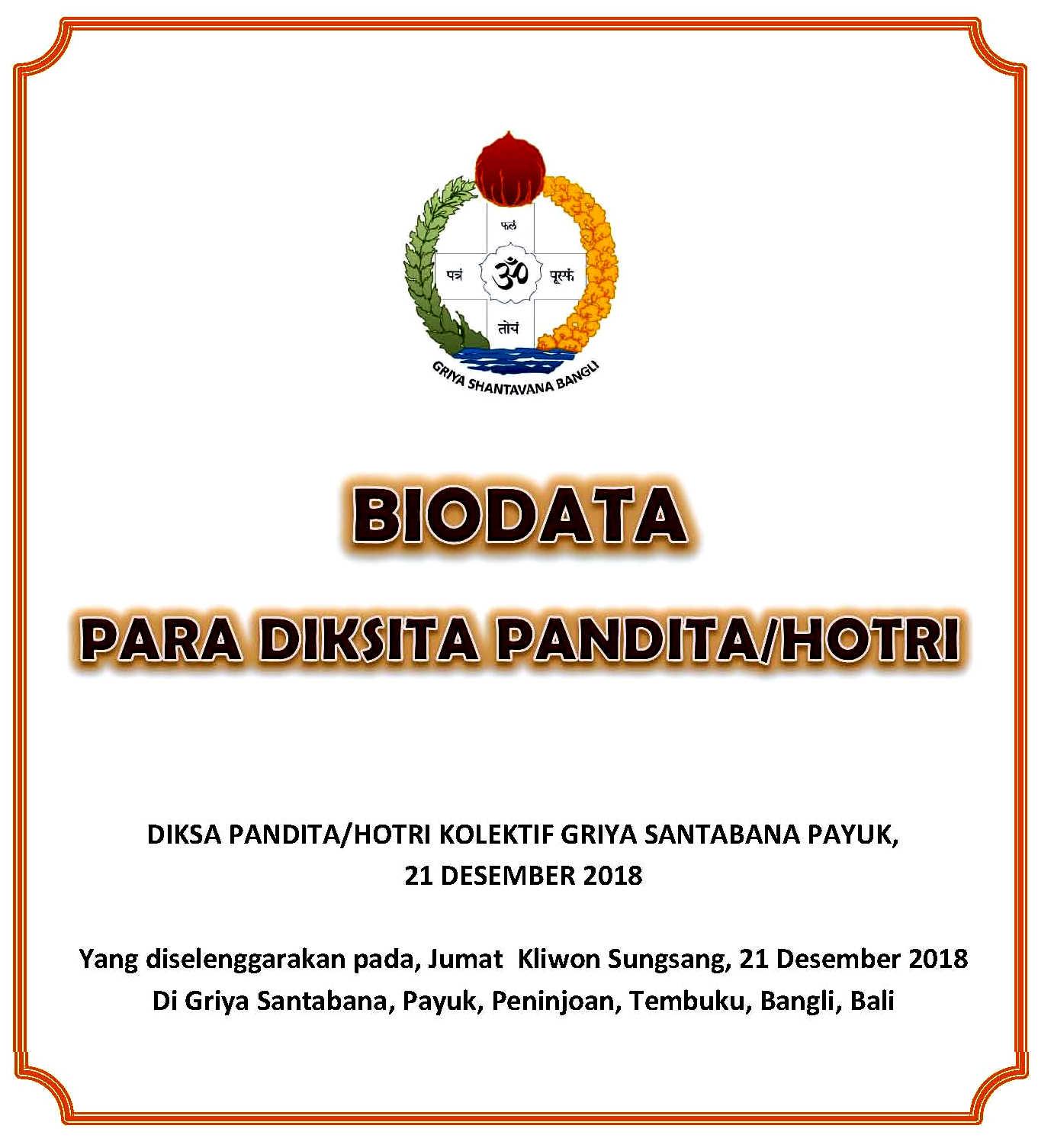 Diksa Dwijati Kolektif VPA Angkatan V Tahun 2018 | Veda ...