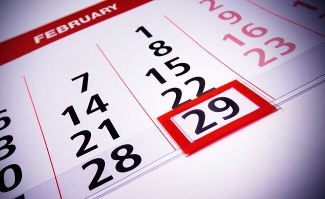 Año bisiesto 29 de febrero