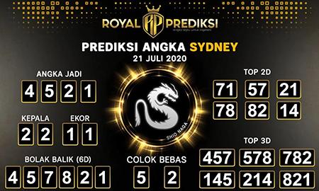 Royal Prediksi Sydney Selasa 21 Juli 2020