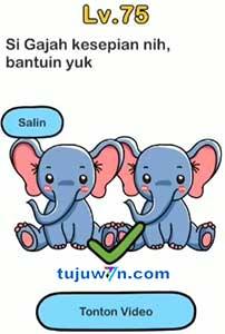 jawaban brain out si gajah kesepian nih bantuin yuk