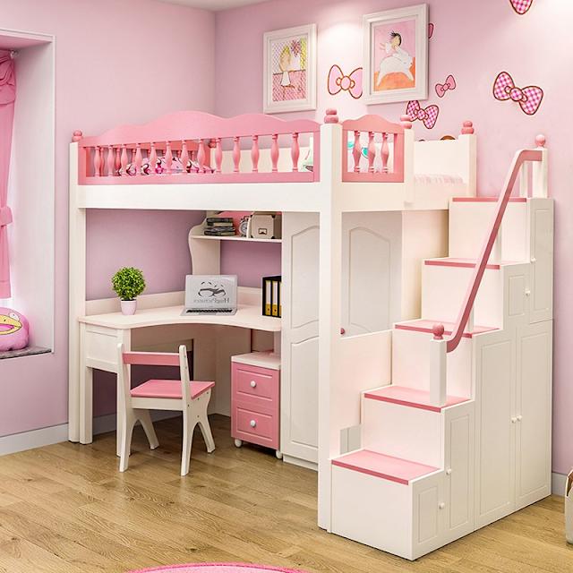 Giường tầng Kitty cho bé gái