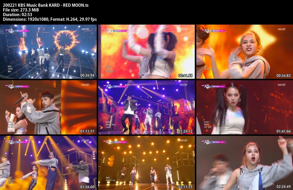 Music Bank ,1080p , Kpop, 2020 , KARD , RED MOON