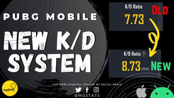 New KD System in PUBG Mobile