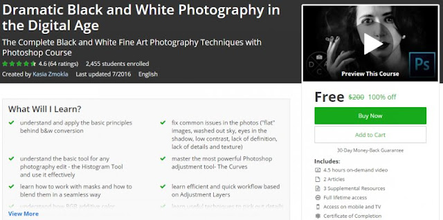 [100% Off] Dramatic Black and White Photography in the Digital Age | Worth 200$
