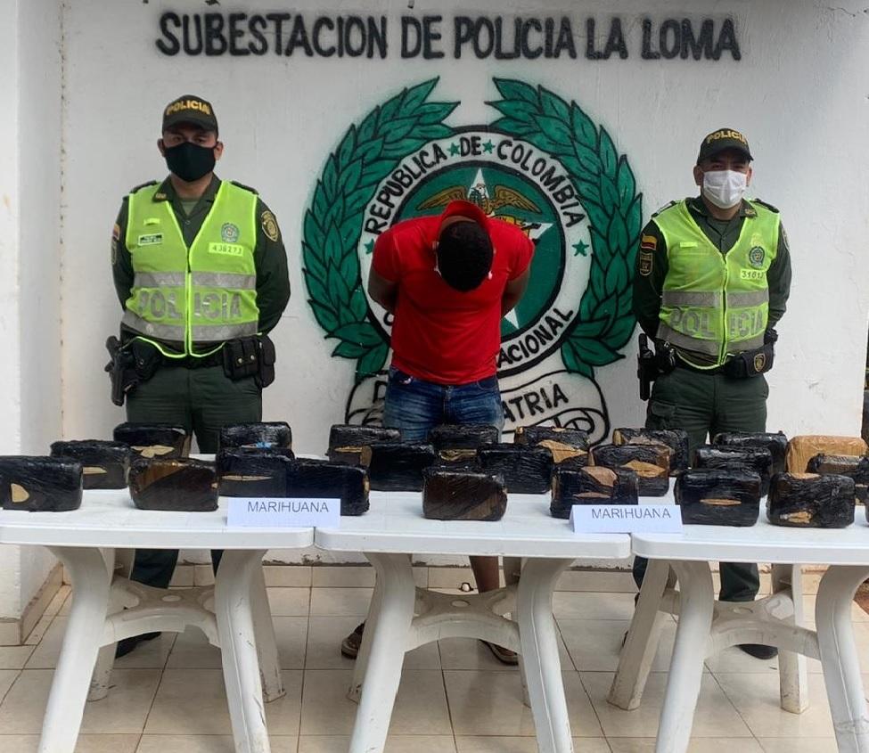 hoyennoticia.com, En La Loma 'se cayó' con 12 kilos y medio de marihuana