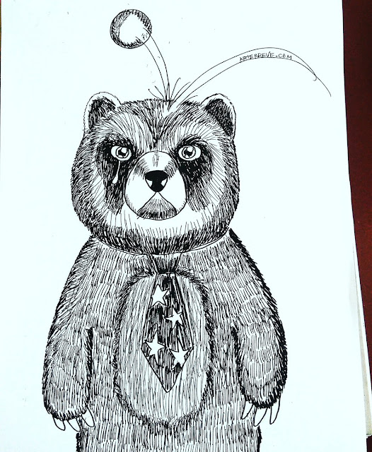 El oso negándose a ser parte de un show de circo