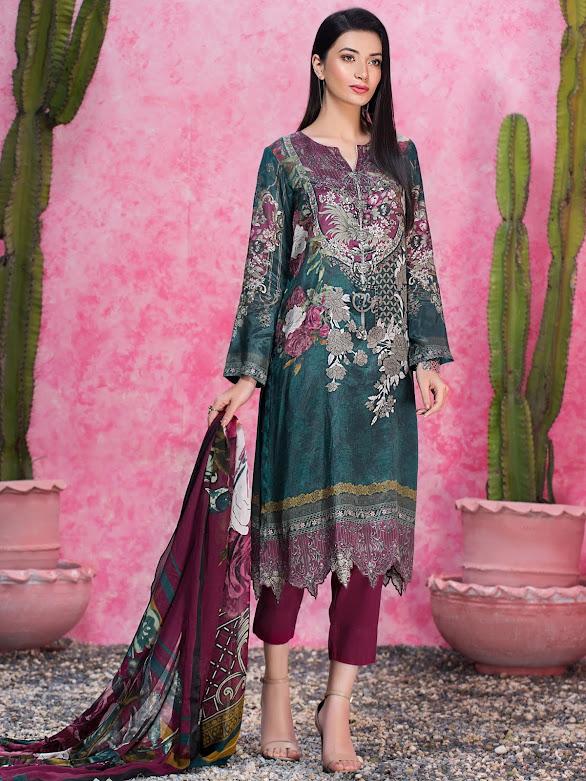 Limelight Thai silk dress Green printed