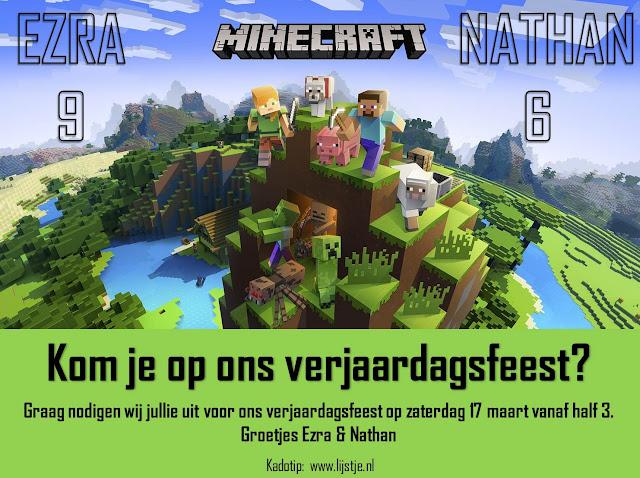 Minecraft Uitnodiging