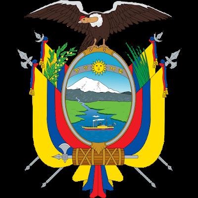 Coat of arms - Flags - Emblem - Logo Gambar Lambang, Simbol, Bendera Negara Ekuador