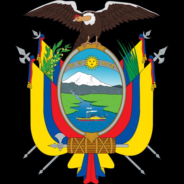 Logo Gambar Lambang Simbol Negara Ekuador PNG JPG ukuran 600 px