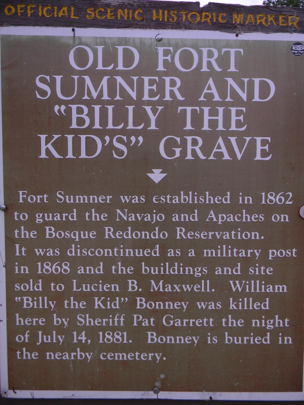 Rvfulltiminglove Billy The Kid S Grave Fort Sumner New