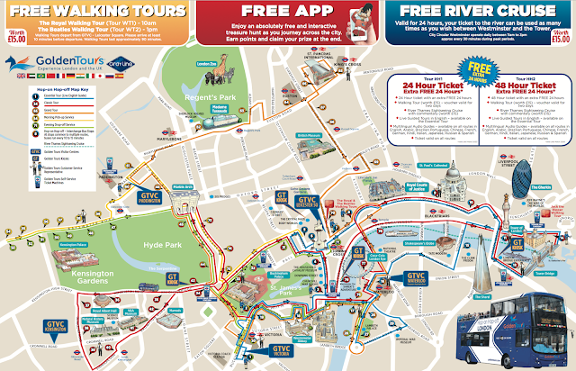 hop on hop off bus londres mapa