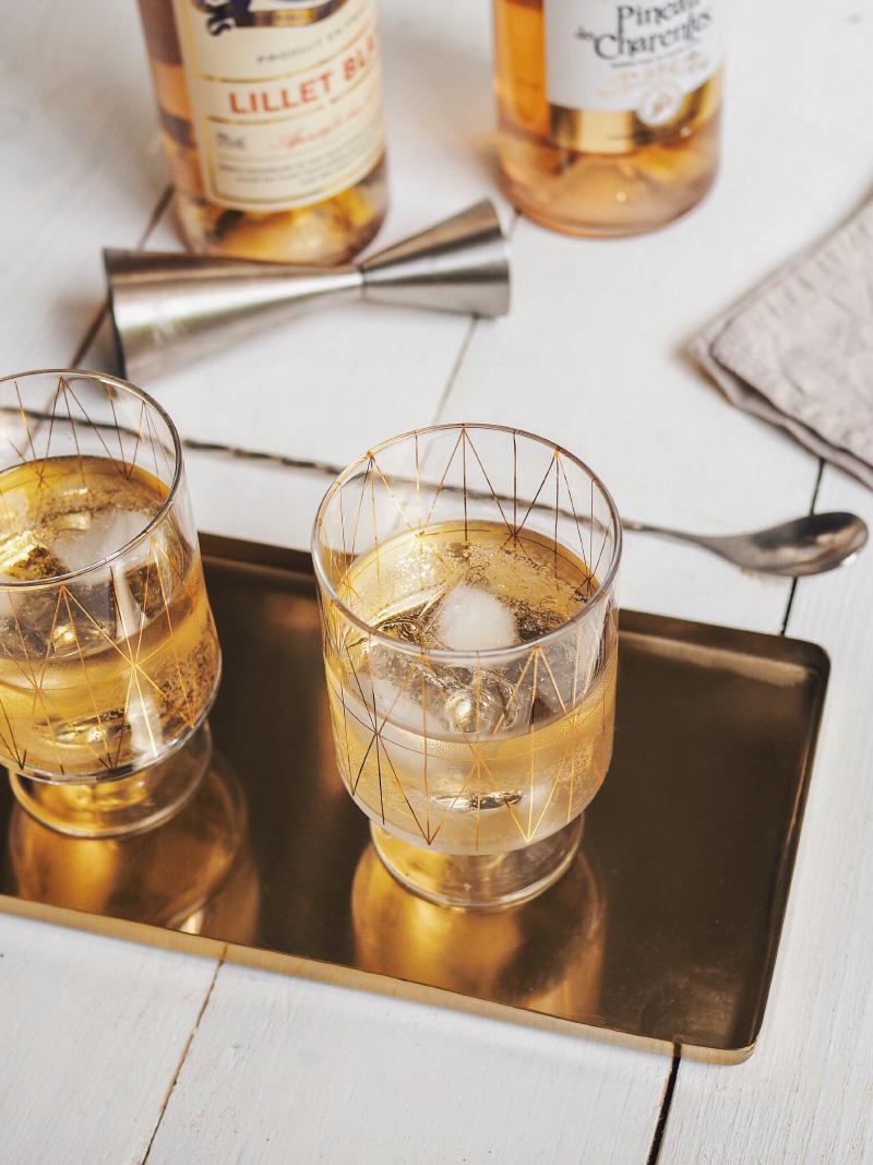 Recettes de cocktails Spritzer au Lillet Blanc et au Pineau des Charentes Blanc