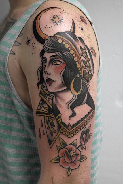 Arm Sleeve Gypsy tattoo for men