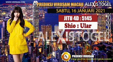 Prediksi Virdsam Togel Toto Macau Sabtu 16 Januari 2021