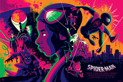 New York Comic Con 2019 Exclusive Spider-Man Into the Spider-Verse Movie Poster Variant Screen Print by Tom Whalen x Grey Matter Art x Marvel