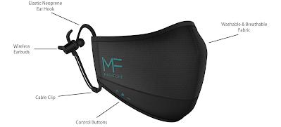 MaskFone N95 Mask has built-in Wireless Earphones