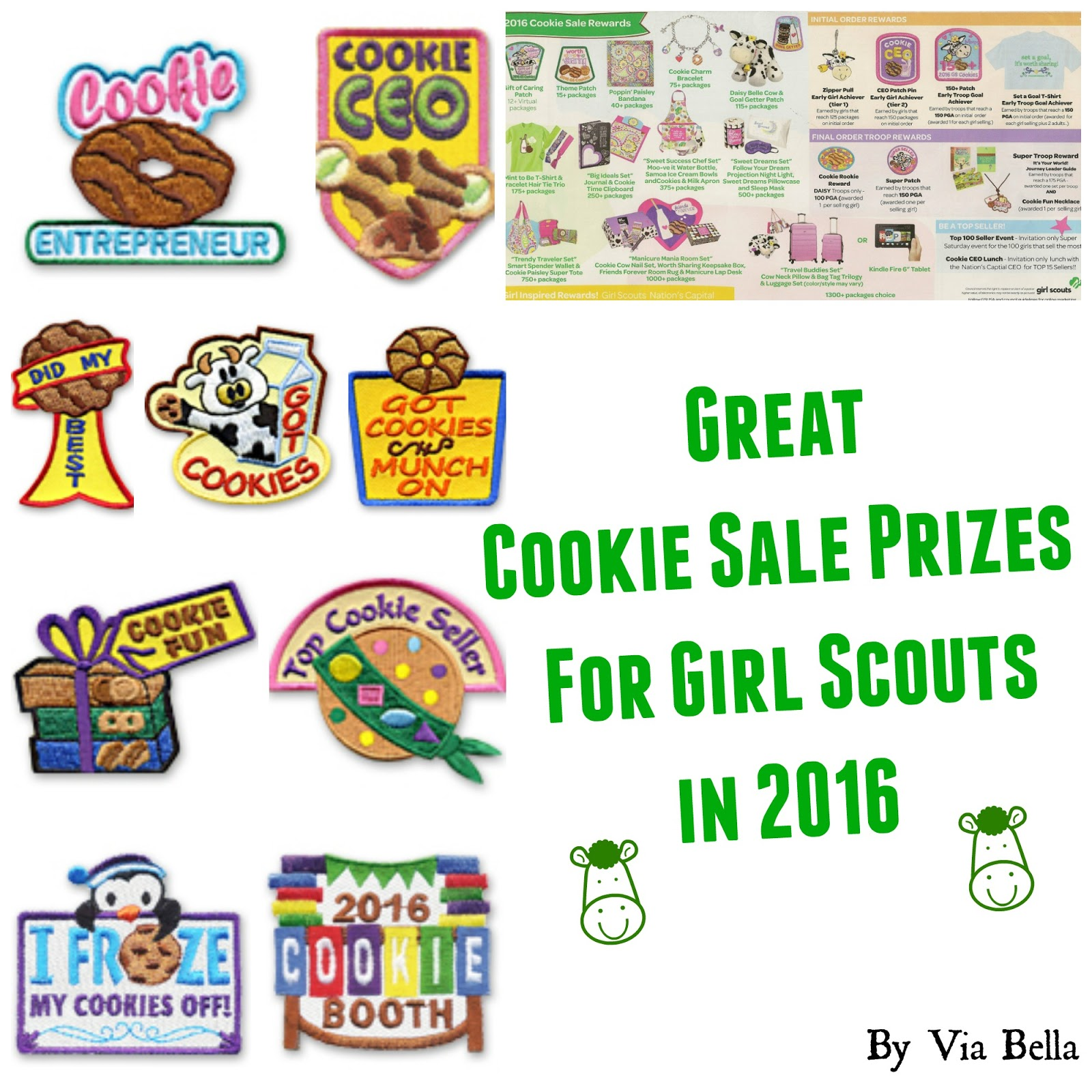 Via Bella Great Cookie Sale Prizes For Girl Scouts In