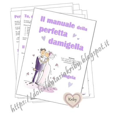 manuale damigella tema lilla glicine personalizzato contenuti