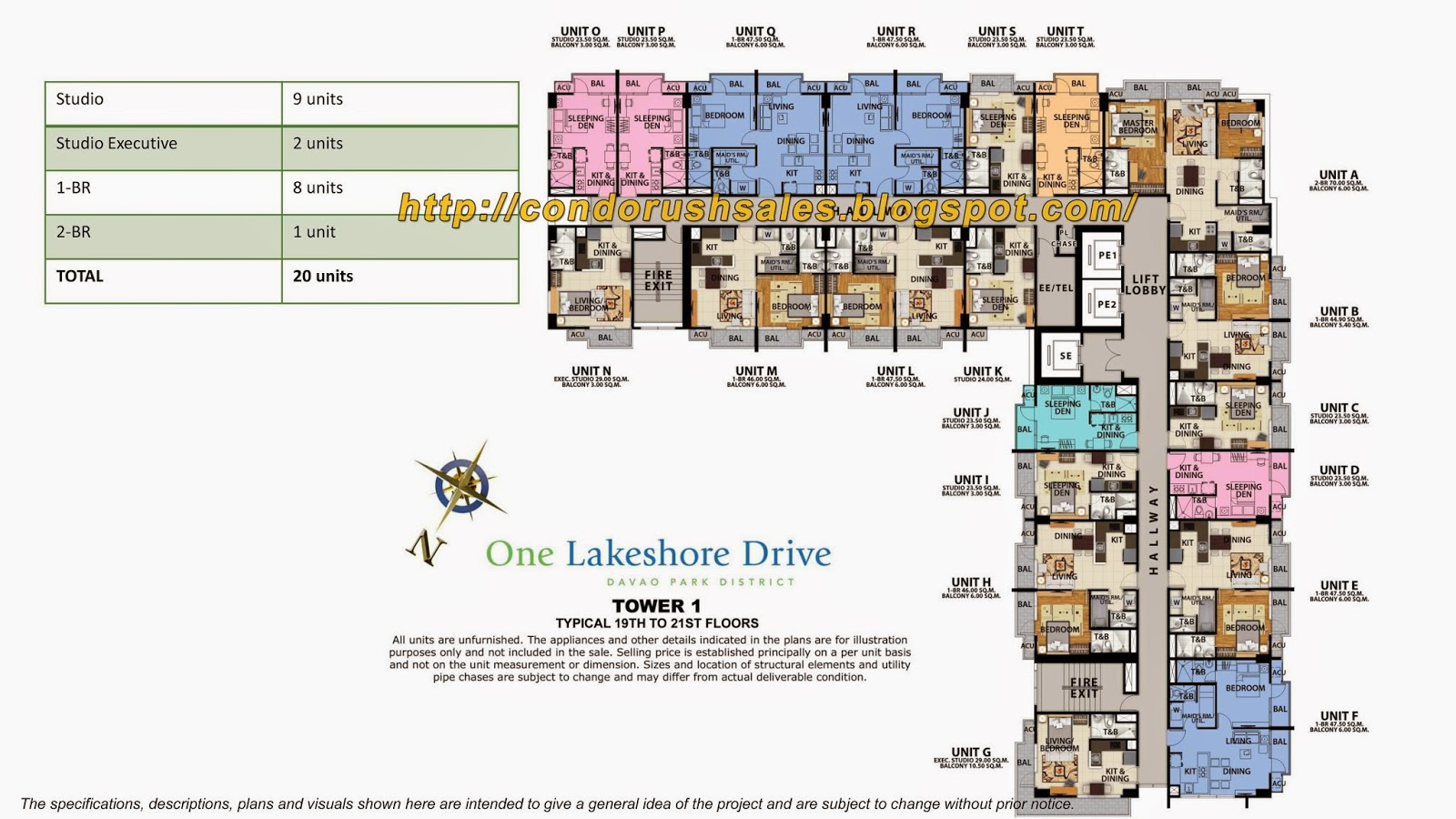 One Lakeshore Drive Tower 1 19th To 21st Floor Units