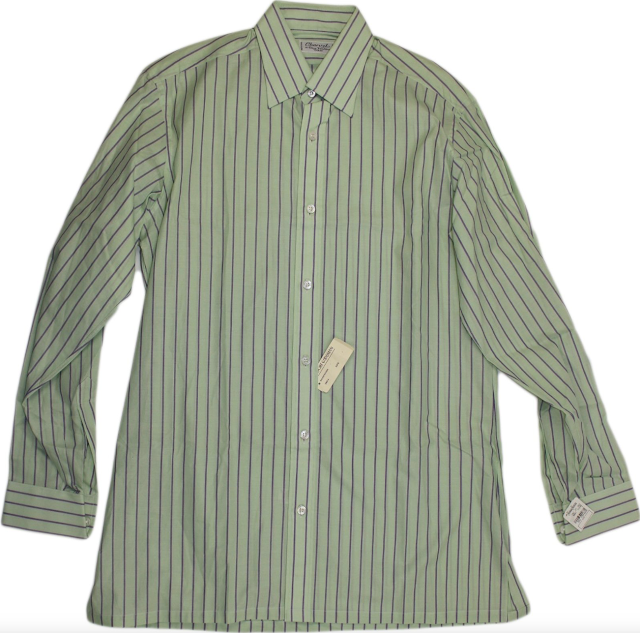 Charvet Green Striped Shirt
