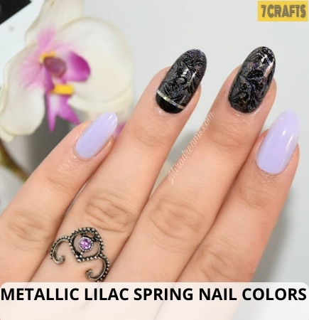 Metallic Lilac Spring nail colors
