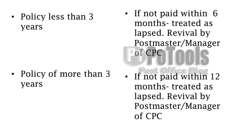 Postal Life Insurance | PO Tools