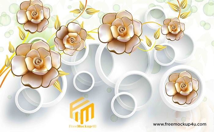 3D Embossed Flowers Stereo Background Wall