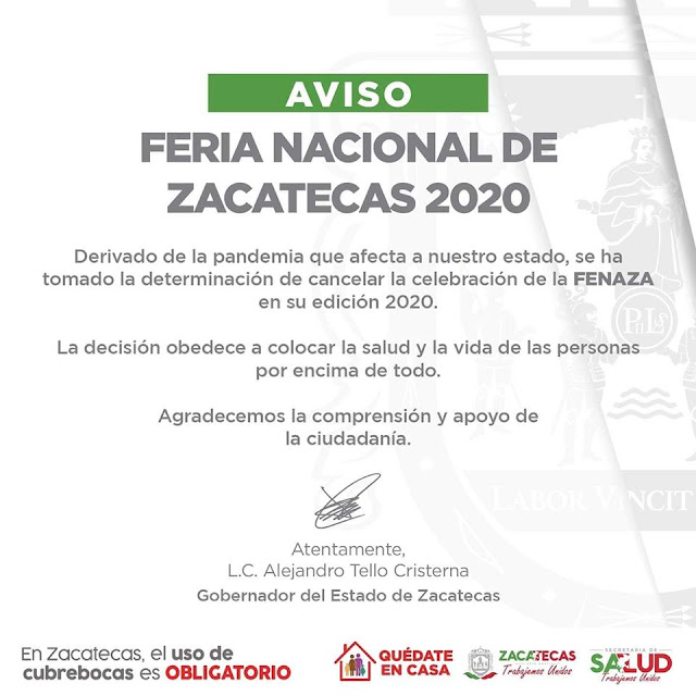 fenaza 2020 cancelada