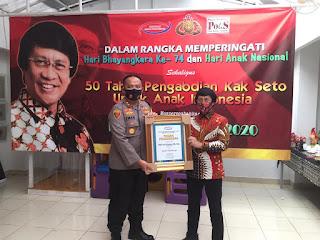 Kapolres Sinjai diganjar  3 Penghargaan  Di Jakarta Salah satunya dari Kak Seto