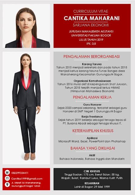 Contoh CV Lamaran Kerja yang Menarik