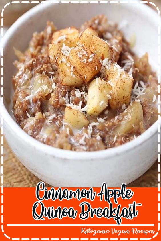 This Cinnamon Apple Breakfast Quinoa is a healthy  Cinnamon Apple Quinoa Breakfast