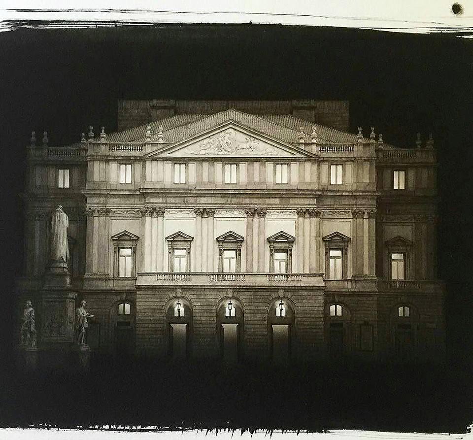 Una fotografia di Irene Kung stampata al platino Palladio da Giancarlo Vaiarelli