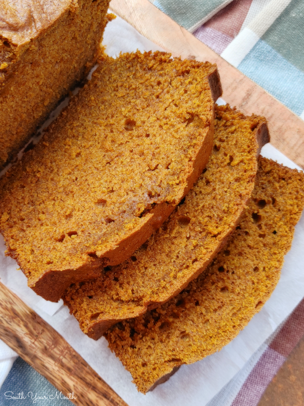 Perfect Pumpkin Bread! A super soft and tender pumpkin bread recipe, perfectly spiced, with a surprise secret ingredient that makes it ultra-moist and delicious!