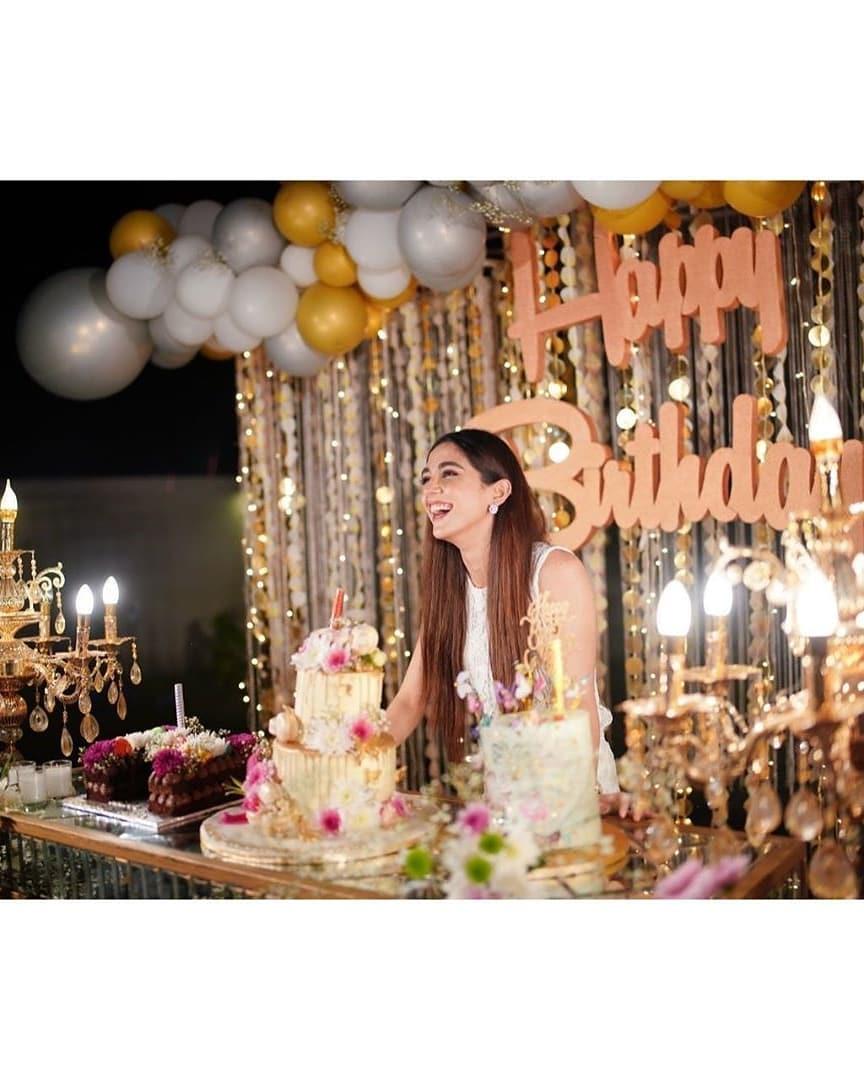 Birthday Celebrations - Maya Ali Looking Gorgeous in White Dress