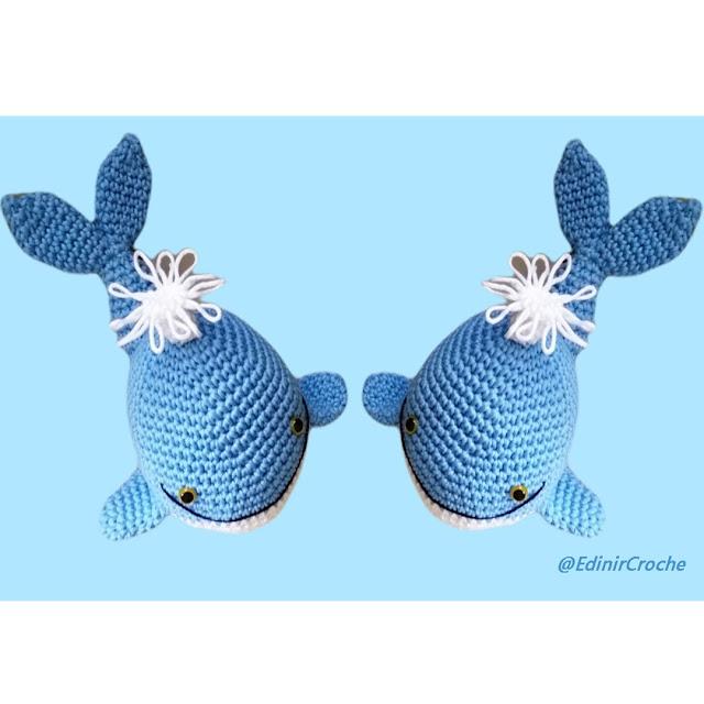 Quero comprar baleia gêmeas em crochê técnica amigurumi
