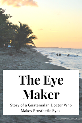 Sunset on the beach with text that says The Eye Maker