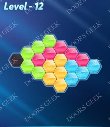 Block! Hexa Puzzle [Intermediate] Level 12 Solution, Cheats, Walkthrough for android, iphone, ipad, ipod